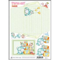 Marij Rahder TWIN cartes 01 bébé