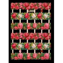 A5, Glanzbilder mit Glimmer Blumen