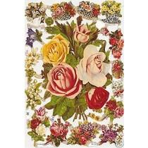 A5, Glanzbilder mit Blumen