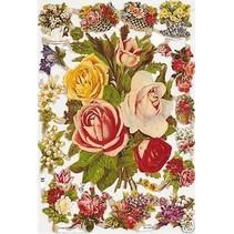 A5, scraps med blomster