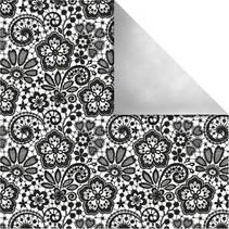 Design papir Paris, Retro Blomster