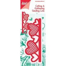 Joy Crafts border with hearts