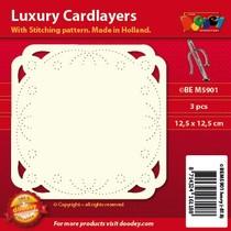 Luxus Karten Layouts zum Besticken, 3 Stück