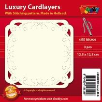 diseños de tarjeta de lujo del bordado, 3 piezas