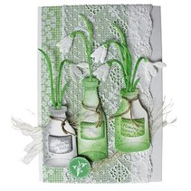Joy Crafts, blomster 3stk / 44x79 / 40x69 / 49x93mm