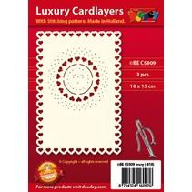 Luksus-kort oppsett for broderier, 3 stykker