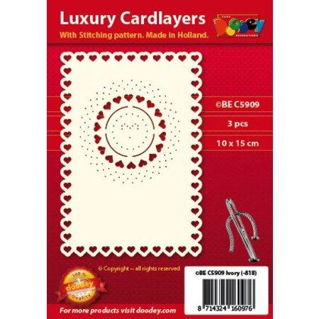 KARTEN und Zubehör / Cards diseños de tarjeta de lujo del bordado, 3 piezas