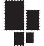 Marianne Design Troquelado y estampado en relieve plantilla: 4 marco en forma de sellos