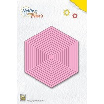 Bokse og preging maler: hexagon multi