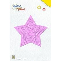 Punzonado y estampado en relieve plantillas: Marco de la estrella multi