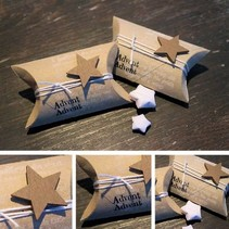 24 Almofada Boxes, 9 x 6 x 3 cm, marrom