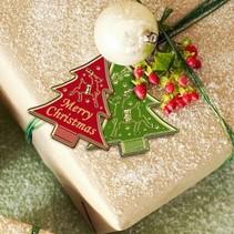 prægede Ziersticker, Weihnachtsbäumchen Labels
