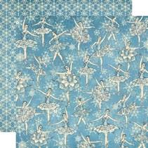 Scrapbooking paper, Nutcracker Sweet Collection, Snowflake Waltz
