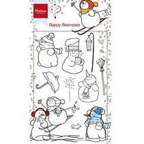 Transparent Stempel: Schneemänner