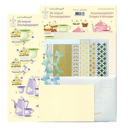 Exlusiv En stjerne klistermærker kaarten compleet kit voor 6 kaarten