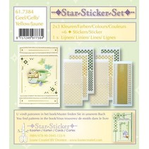 Star stickers set 2x3 star stickers + 1 lijn sticker
