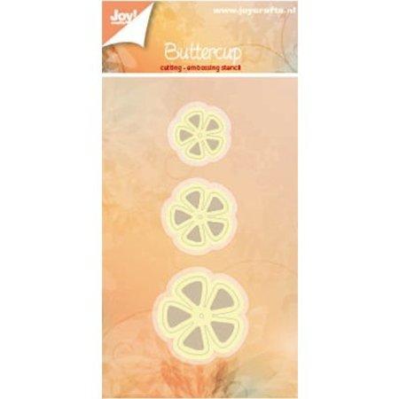 Joy!Crafts und JM Creation Punzonado y estampado en relieve plantillas: 3 flores