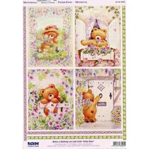 A4 Die cut 3D + 1 background sheets: Bears
