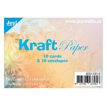 10 Kraft kort + konvolutter
