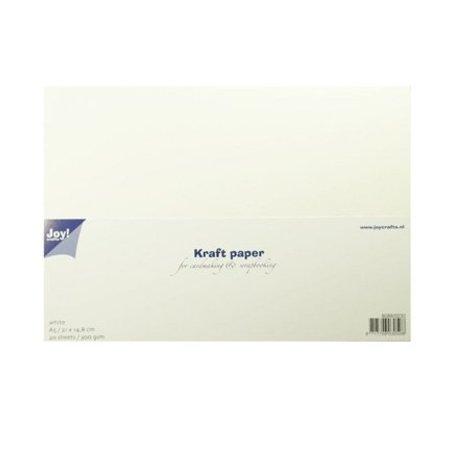 KARTEN und Zubehör / Cards Kraftpapier, weiss