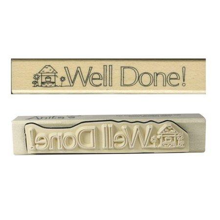 "Stempel / Stamp: Holz / Wood ""¡Bien hecho!"""