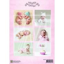 1 Bilderbogen A4: sød baby pige
