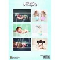 1 Bilderbogen A4: søt baby gutt