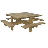 Picknicktafel Favinha 4-zijdig