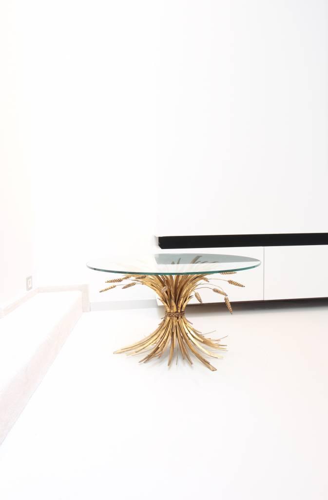 Brass table Hollywood regency style