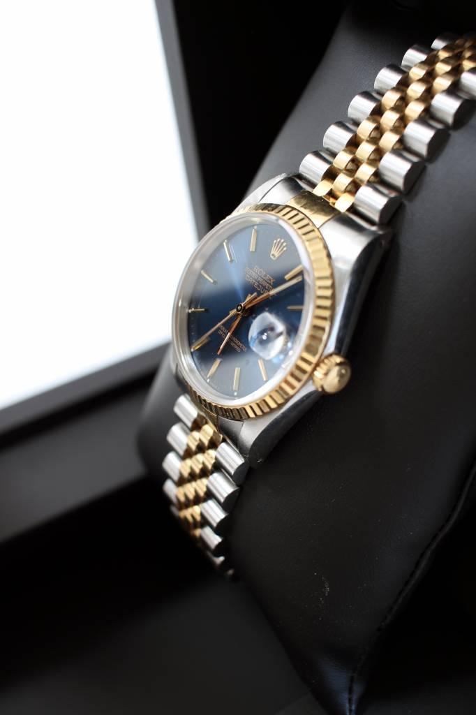 Rolex Vintage automatische Rolex Datejust in staal en 18k geel goud