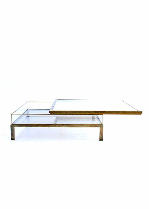 Sliding coffee table