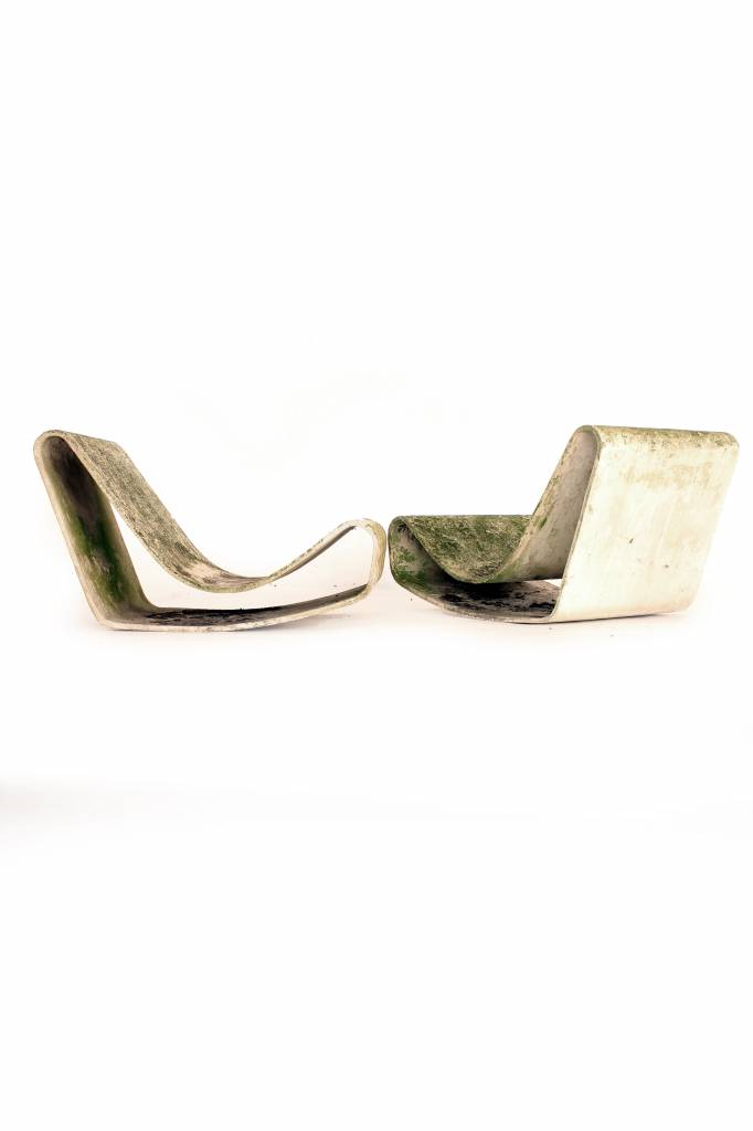 Vintage Loop lounge chairs by Willy Guhl