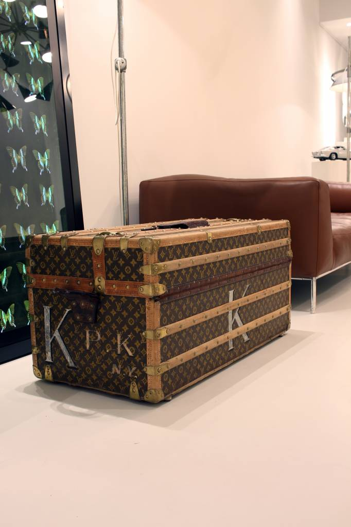 Grote oude Louis Vuitton reiskoffer