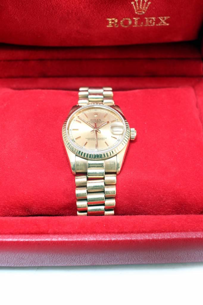 Gold vintage Rolex Datejust
