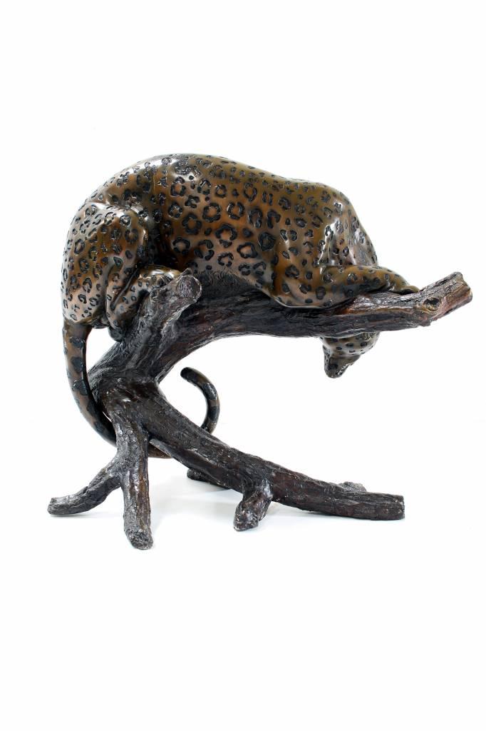 Large bronze leopard