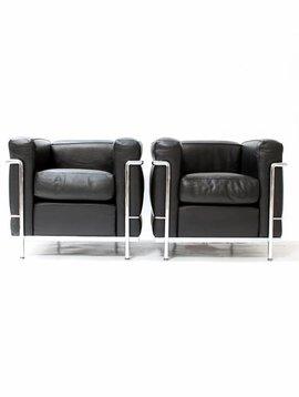 Couple Le Corbusier LC2 1seat