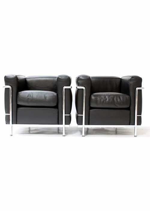 Couple Le Corbusier LC2 1seat