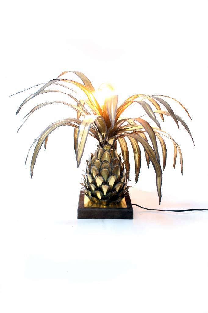 Vintage messing ananas tafellamp 1970