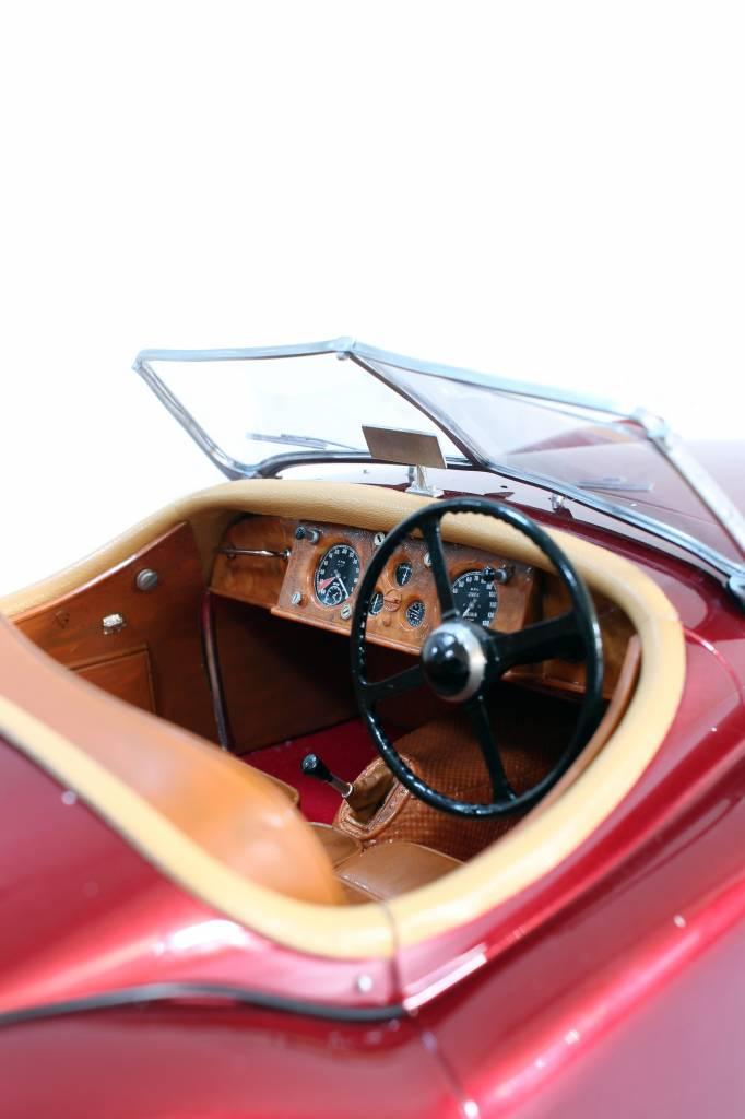 Handgemaakt schaalmodel jaguar XK120