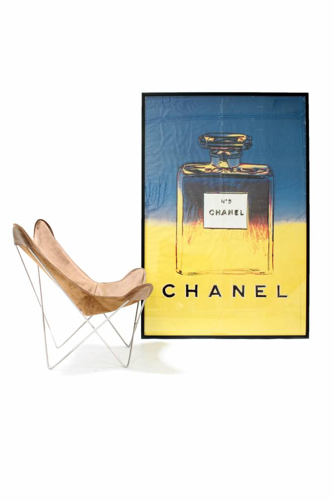 Andy Warhol XXL-poster voor Chanel 1997 Fine Art New York