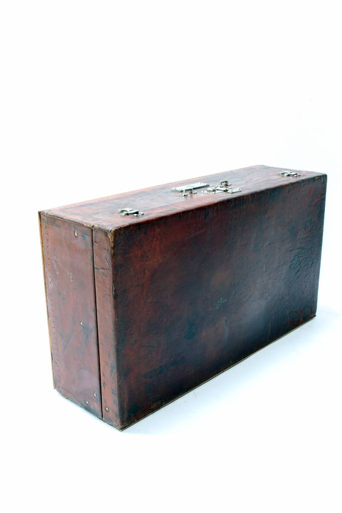 Vintage Leather Louis Vuitton car trunk rolls royce