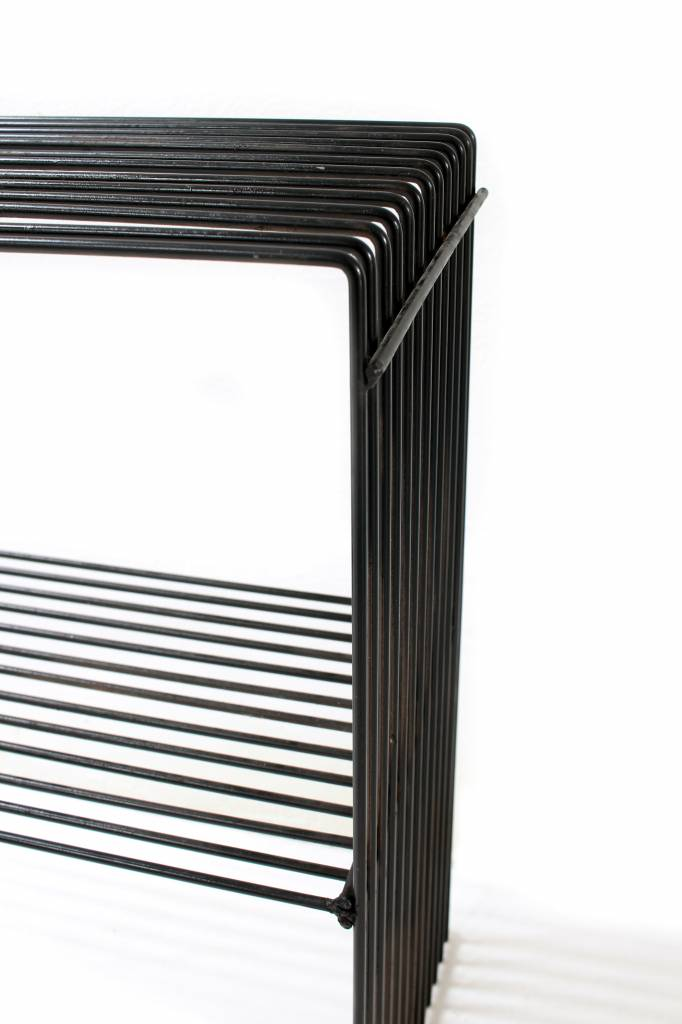 Vintage side tables in wire metal