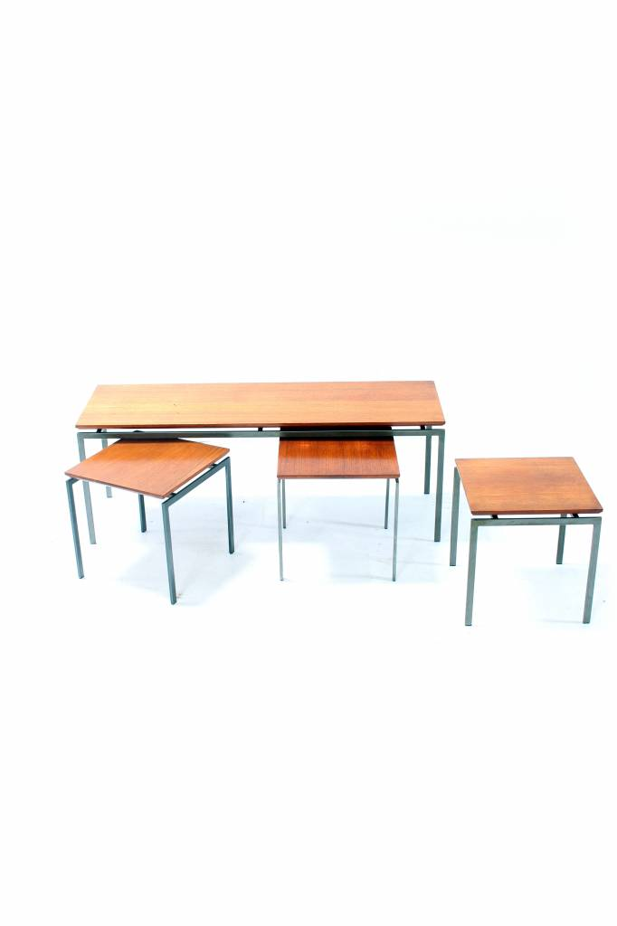 Cees Braakman vintage side tables from the 50s for pastoe
