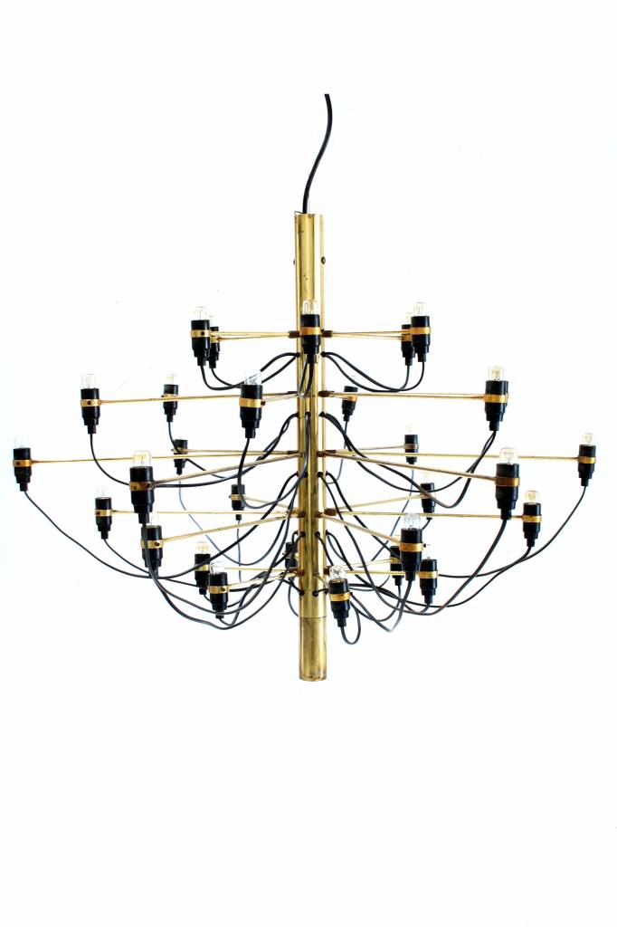 Gino Sarfatti chandelier in brass first production
