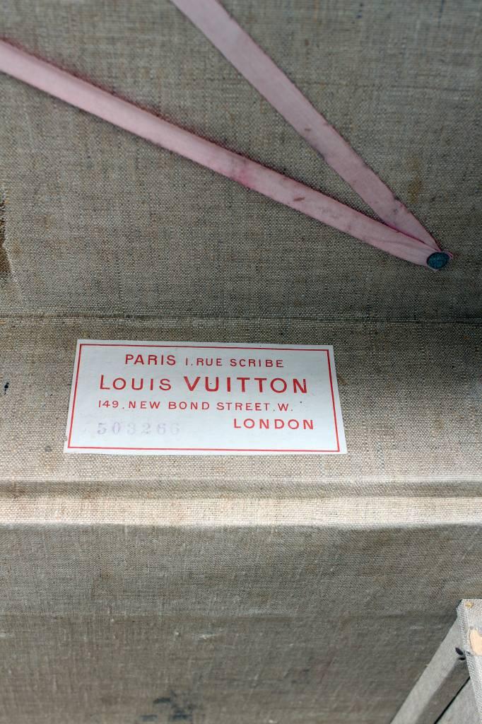 Zeldzame antieke reiskoffer Louis Vuitton circa 1898