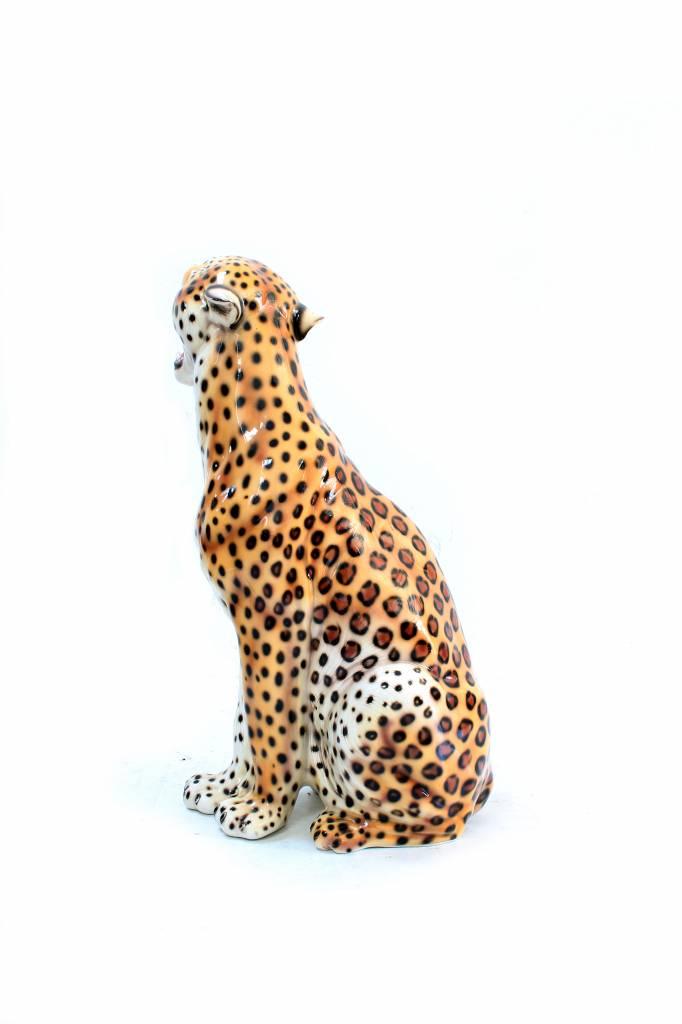 Large ceramic leopard