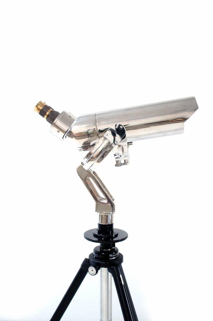 Large binoculars on aluminum tripod