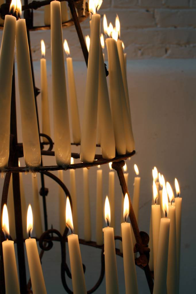 Old candlelier from church