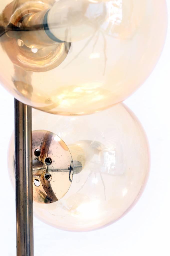 Elegant vintage floor lamp in brass