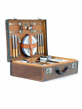 Antique picnic suitcase